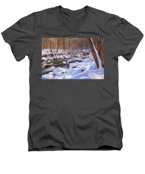 Winter Crisp Men's V-Neck T-Shirt by Angelo Marcialis
