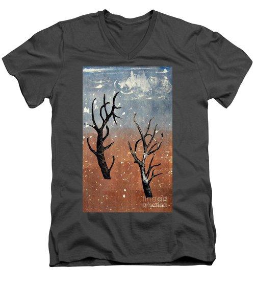 Winter Day Men's V-Neck T-Shirt by Sarah Loft