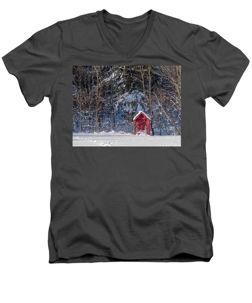 Winter, Down East Maine  Men's V-Neck T-Shirt by Trace Kittrell