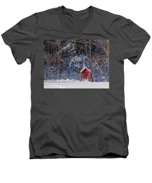 Winter, Down East Maine  Men's V-Neck T-Shirt