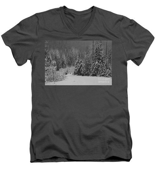 Men's V-Neck T-Shirt featuring the photograph Winter Fairy Tale by Yulia Kazansky