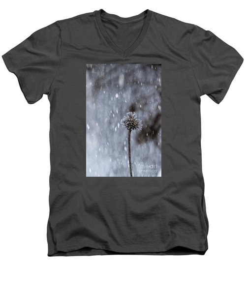 Winter Flower Men's V-Neck T-Shirt