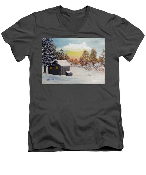 Winter Getaway Men's V-Neck T-Shirt
