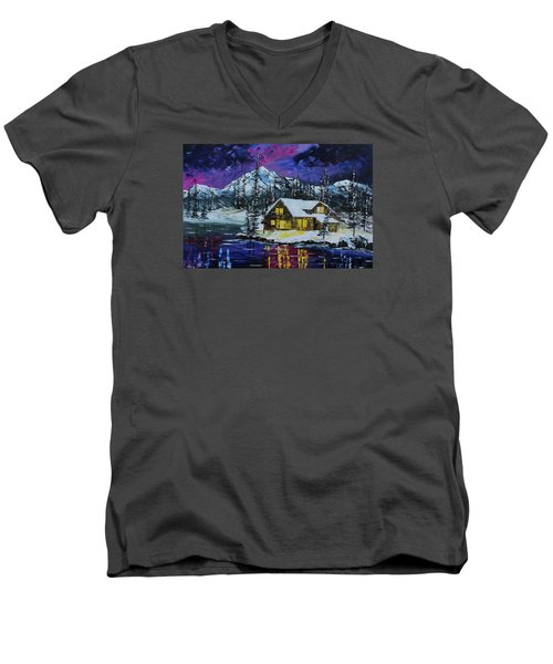 Winter Getaway Men's V-Neck T-Shirt