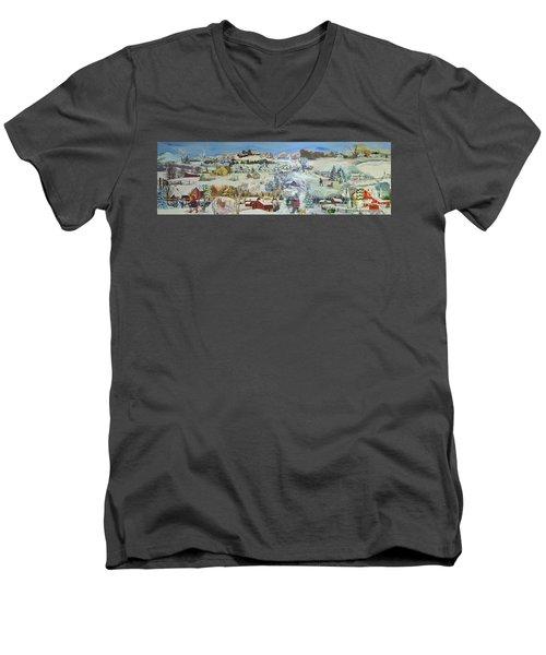 Winter Goose - Sold Men's V-Neck T-Shirt by Judith Espinoza