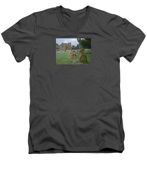 Winter Graveyard Men's V-Neck T-Shirt
