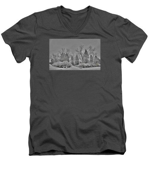 Winter Harmony Men's V-Neck T-Shirt by Teresa Schomig