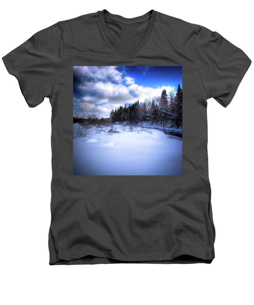 Men's V-Neck T-Shirt featuring the photograph Winter Highlights by David Patterson