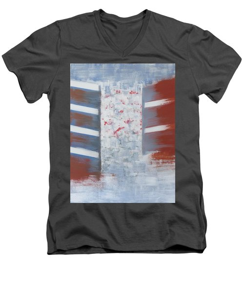Winter In Chernogolovka Men's V-Neck T-Shirt by Tamara Savchenko
