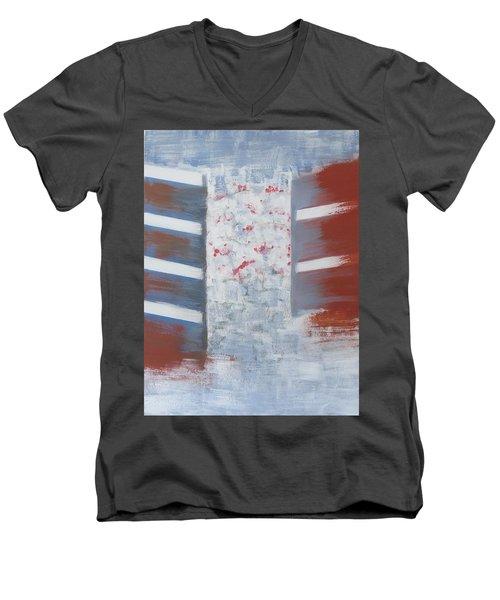 Winter In Chernogolovka Men's V-Neck T-Shirt