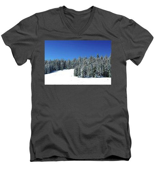 Winter In Colorado  Men's V-Neck T-Shirt