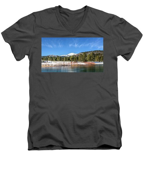Winter In Ruidoso Men's V-Neck T-Shirt