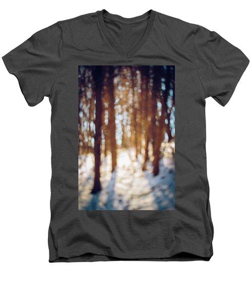 Winter In Snow Men's V-Neck T-Shirt