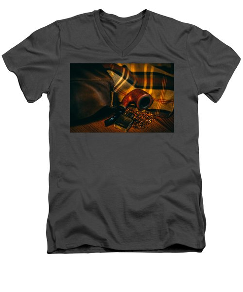 Winter In The Air Men's V-Neck T-Shirt by Cesare Bargiggia