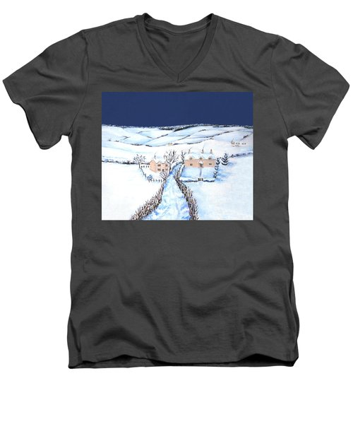 Winter In The Cotswolds Men's V-Neck T-Shirt