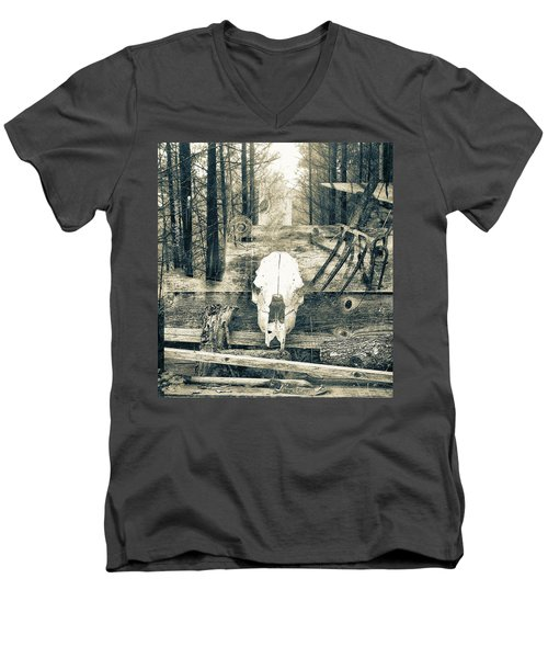 Winter In The In The Woods Men's V-Neck T-Shirt
