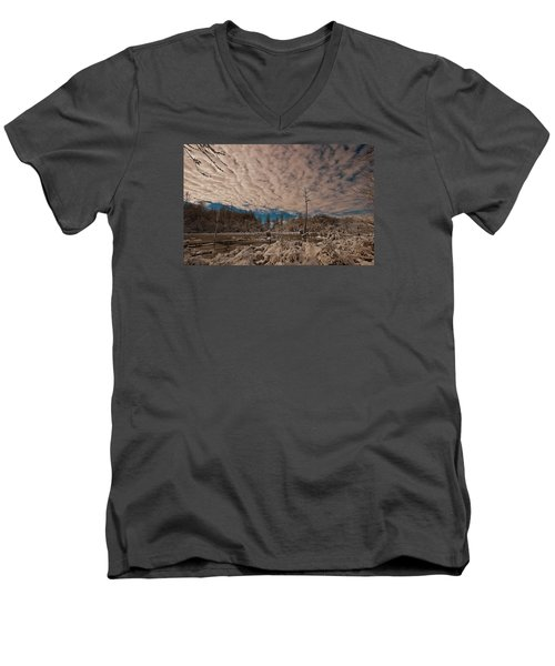 Winter In The Wetlands Men's V-Neck T-Shirt by John Harding