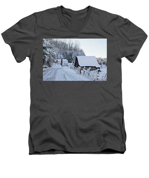 Winter In Virginia Men's V-Neck T-Shirt