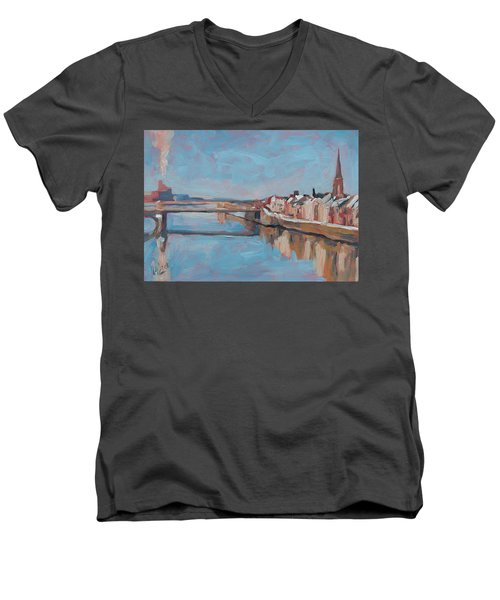 Winter In Wyck Maastricht Men's V-Neck T-Shirt