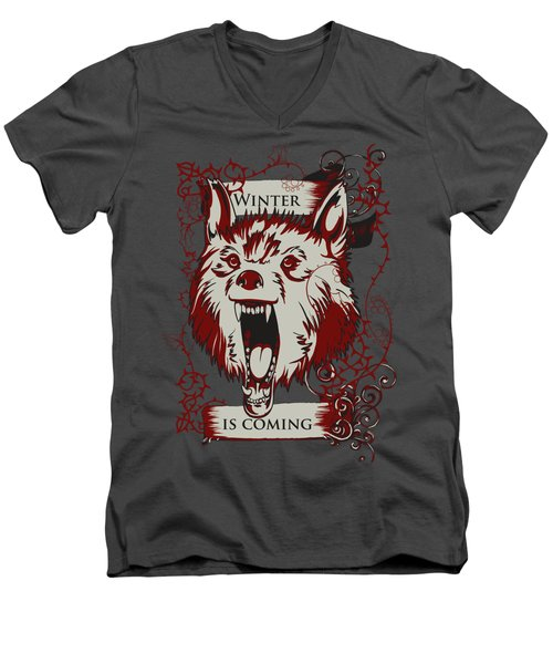 Winter Is Coming Men's V-Neck T-Shirt