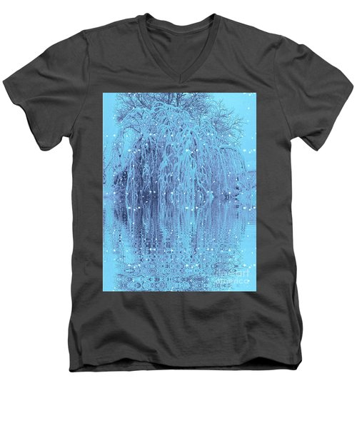 Winter Is Pretty Men's V-Neck T-Shirt by Holly Martinson