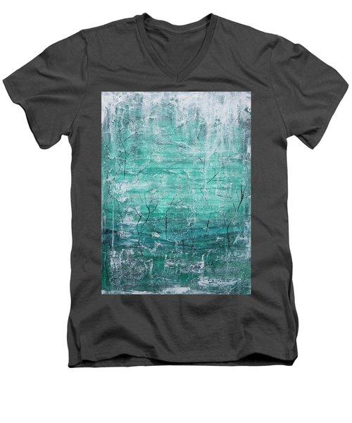 Winter Landscape Men's V-Neck T-Shirt by Jocelyn Friis