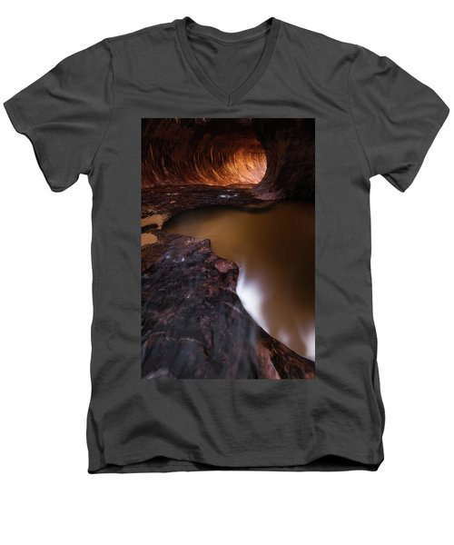 Men's V-Neck T-Shirt featuring the photograph Winter Light by Dustin LeFevre