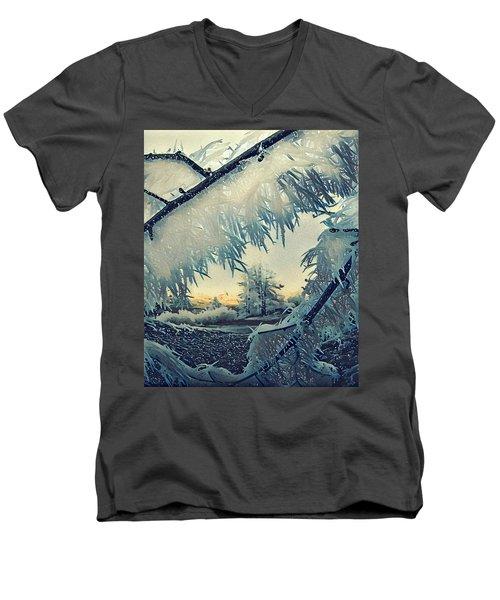 Winter Magic Men's V-Neck T-Shirt by Colette V Hera Guggenheim