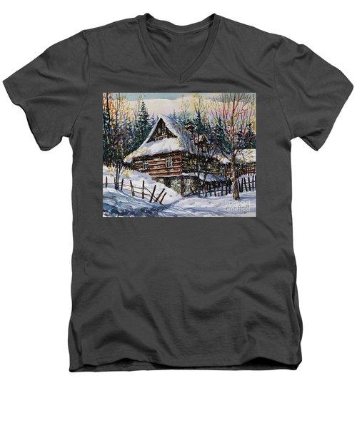 Winter Magic II  Men's V-Neck T-Shirt