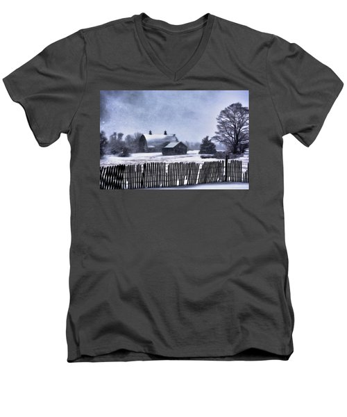 Men's V-Neck T-Shirt featuring the photograph Winter by Mark Fuller