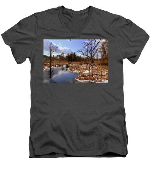 Winter Marsh Men's V-Neck T-Shirt
