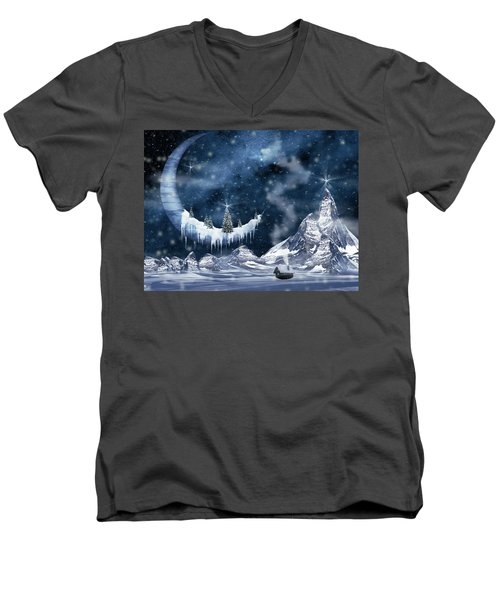 Winter Moon Men's V-Neck T-Shirt