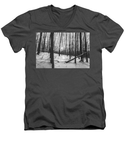 Winter Morning Dream Men's V-Neck T-Shirt by Angelo Marcialis