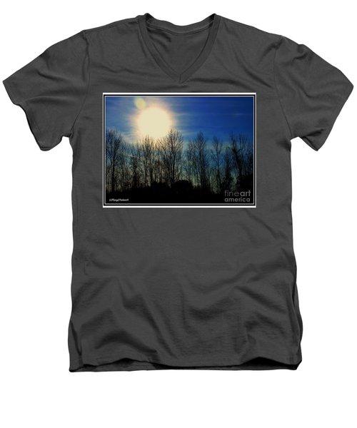 Winter Morning Men's V-Neck T-Shirt by MaryLee Parker