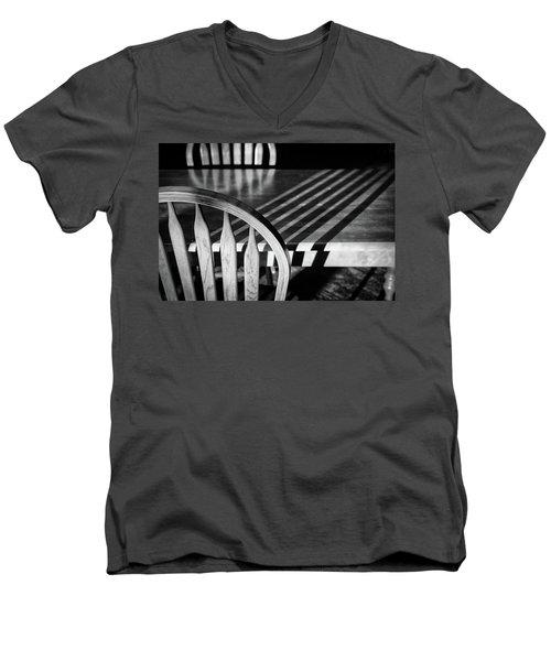 Winter Morning Shadows Men's V-Neck T-Shirt