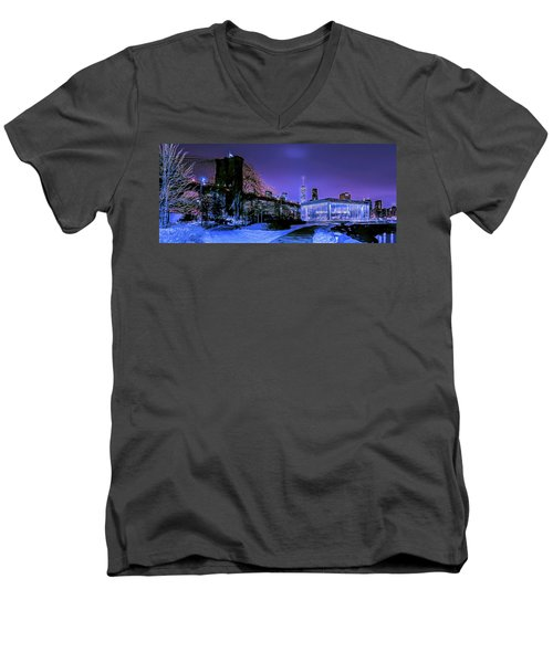 Winter Night Men's V-Neck T-Shirt