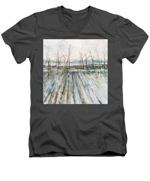 Winter On The Delta Men's V-Neck T-Shirt by Robin Miller-Bookhout