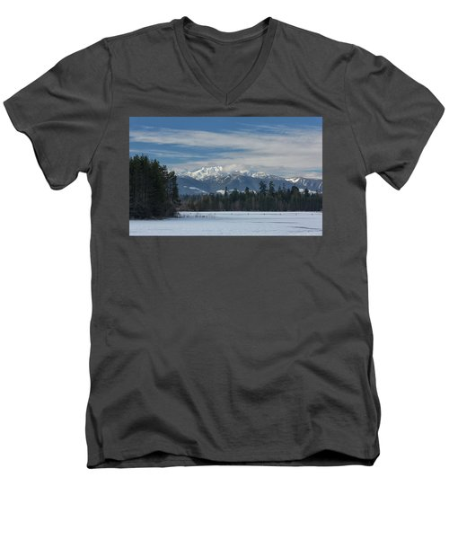 Men's V-Neck T-Shirt featuring the photograph Winter by Randy Hall