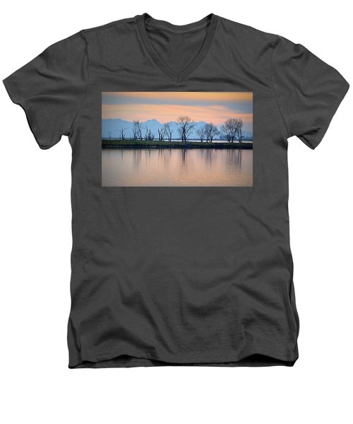 Winter Reflections Men's V-Neck T-Shirt