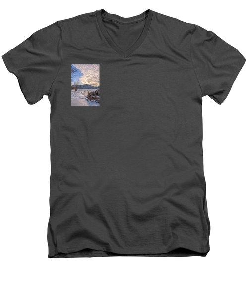 November River Men's V-Neck T-Shirt by Angelo Marcialis