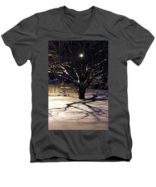 Winter Romace Men's V-Neck T-Shirt by Samantha Thome
