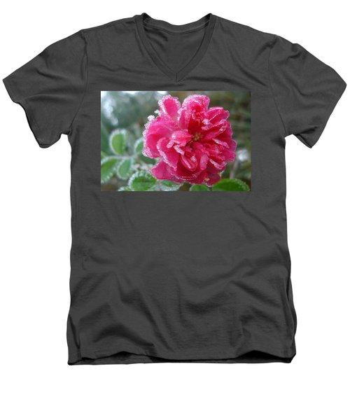 Winter Rose Men's V-Neck T-Shirt
