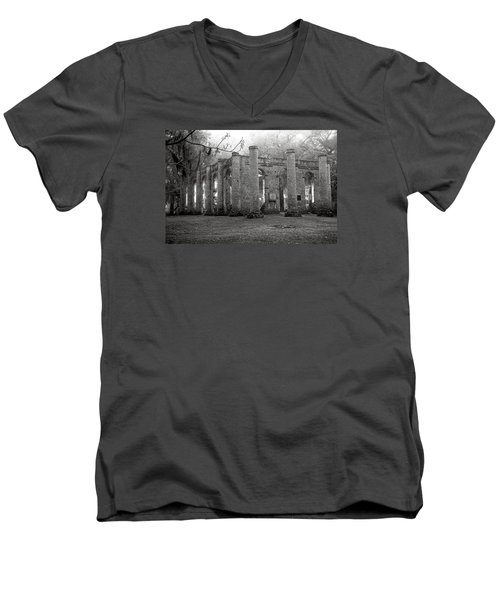 Winter Ruins Men's V-Neck T-Shirt