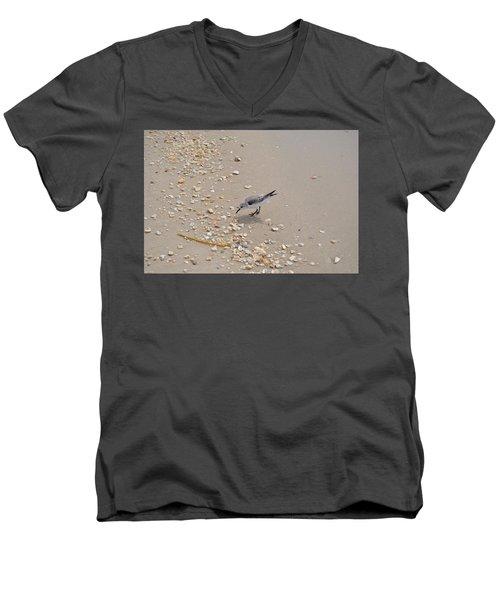 Winter Sanderling Men's V-Neck T-Shirt