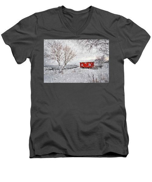 Winter Secret Men's V-Neck T-Shirt