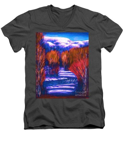 Winter Shadows  Men's V-Neck T-Shirt
