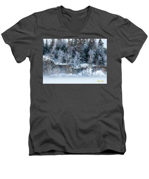 Winter Shore Men's V-Neck T-Shirt