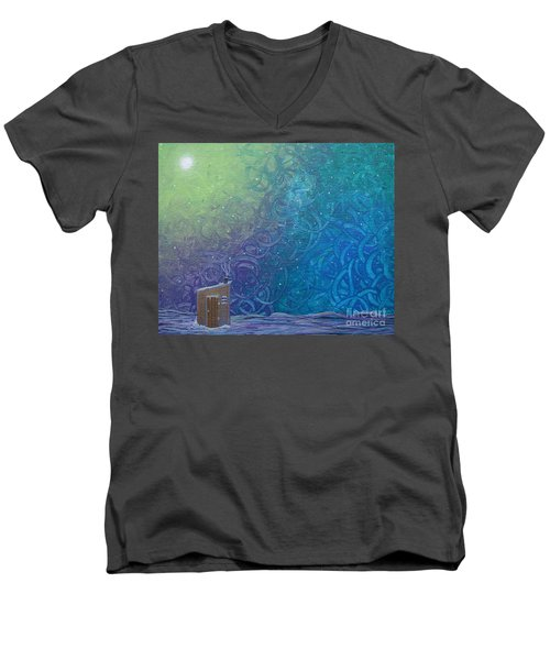 Winter Solitude 2 Men's V-Neck T-Shirt