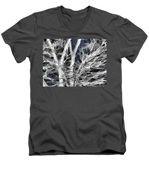 Men's V-Neck T-Shirt featuring the digital art Winter Song by Wendy J St Christopher