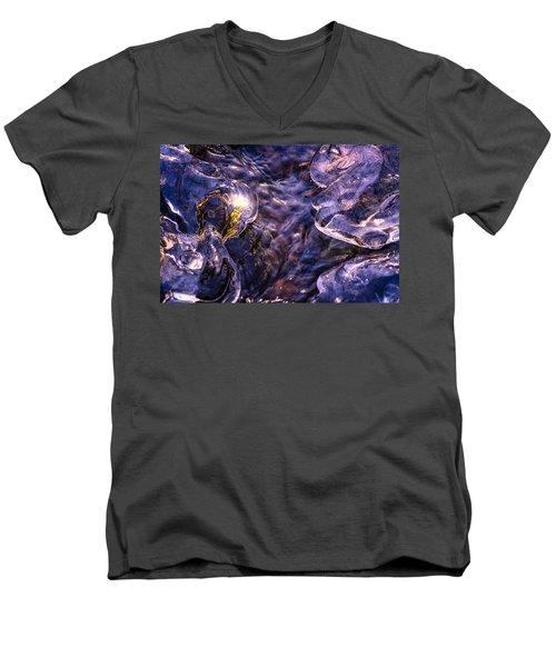 Winter Streams Men's V-Neck T-Shirt by Craig Szymanski